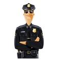 policeman in uniform vector image vector image