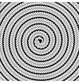 Abstract White Spiral Pattern vector image