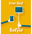 Taking Selfie Photo on Smart Phone and Tablet PC vector image vector image