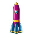 A colorful rocket vector image