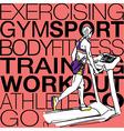 Athletic woman on gym class walk treadmill runni vector image