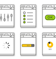Browser window template with different content vector image