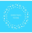 Christmas round frame for Christmas cards vector image