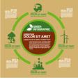 Eco green info graphic design vector image
