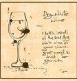 Hand drawn White Wine vector image