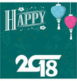 happy new year text hand drawn lettering holiday vector image