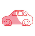 silhouette flat tire car to drive and travel vector image