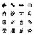 Black Dog and Cynology object icons vector image vector image