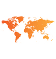 Orange World map vector image vector image