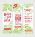 vintage italian food vertical banners vector image vector image