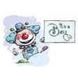 Clown Holding an Its a Boy Card vector image