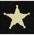 sheriff grunge star vector image
