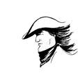 cowboy sketch vector image vector image