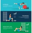 Healthy Life Horizontal Banners Set vector image
