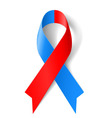 Red and blue ribbon vector image