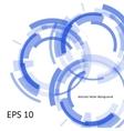 blue techno bubbles vector image