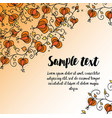 card with autumn doodling floral pattern vector image