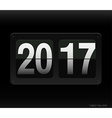 Count down clock with 2017 year vector image