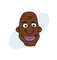 happy black man face vector image