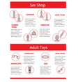 infographic of red and grey sex toys vibrator vector image