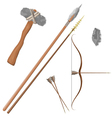 Items ancient people vector image