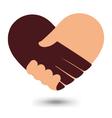 Love Handshake With Heart Shape Design vector image