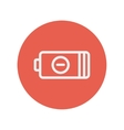 Negative power battery thin line icon vector image
