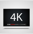payer video 4k frame on the white background vector image