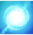 Shining sun or portal on blue background vector image