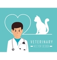 Veterinary clinic healthcare vector image
