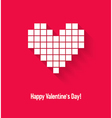 Valentines day card with abstract pixel heart vector image vector image
