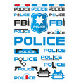 police and justice logotypes set vector image