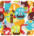 Colorful spring monsters seamless pattern vector image vector image