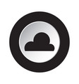 Round black white button - weather cloud cloudy vector image