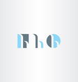 small letter h logo set icon vector image