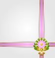 wreath and ribbon spring decoration vector image