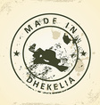 Stamp with map of Dhekelia vector image