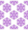 Seamless Violet Floral Mandala Pattern vector image