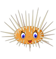 cute sea urchin smiling vector image vector image