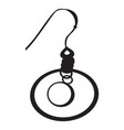 earring silhouette vector image
