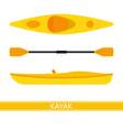 kayak icon vector image