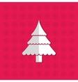 Merry christmas tree pine card vector image