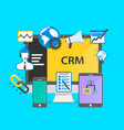 programming crm icon set collage vector image