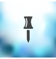 push pin icon on blurred background vector image