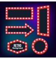 retro Red frame Vintage Signs vector image