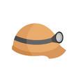 safety helmet flashlight graphic vector image