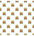 schoolbus pattern seamless vector image