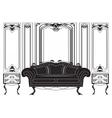 Vintage Gothic style furniture set vector image
