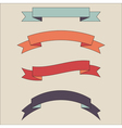 vintage ribbon banner set vector image