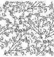 Seamless background with branches of beautiful vector image